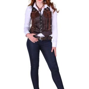 Damen Cowboy-Weste Gr. L