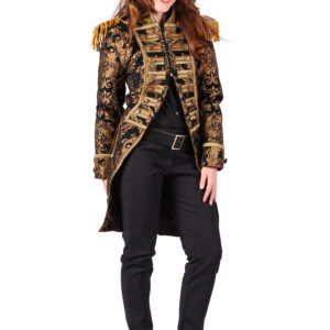 Damenjacke Nelson Brokat gold-schwarz Gr. XL