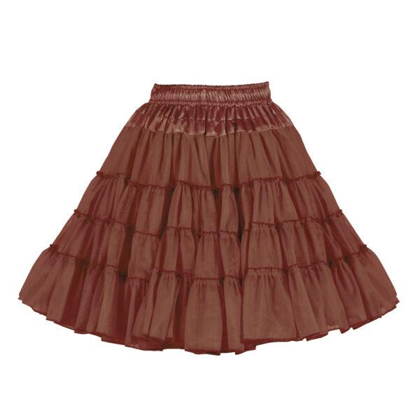 Petticoat 3lagig braun