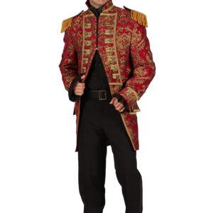 Herrenjacke Nelson Brokat rot-gold Gr. L