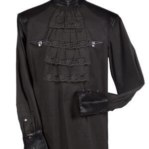 Damenbluse Steampunk schwarz Gr. XL
