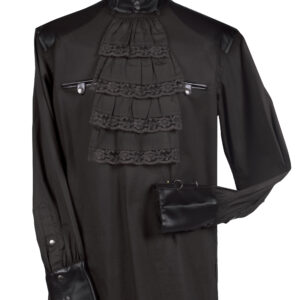 Damenbluse Steampunk schwarz Gr. XS