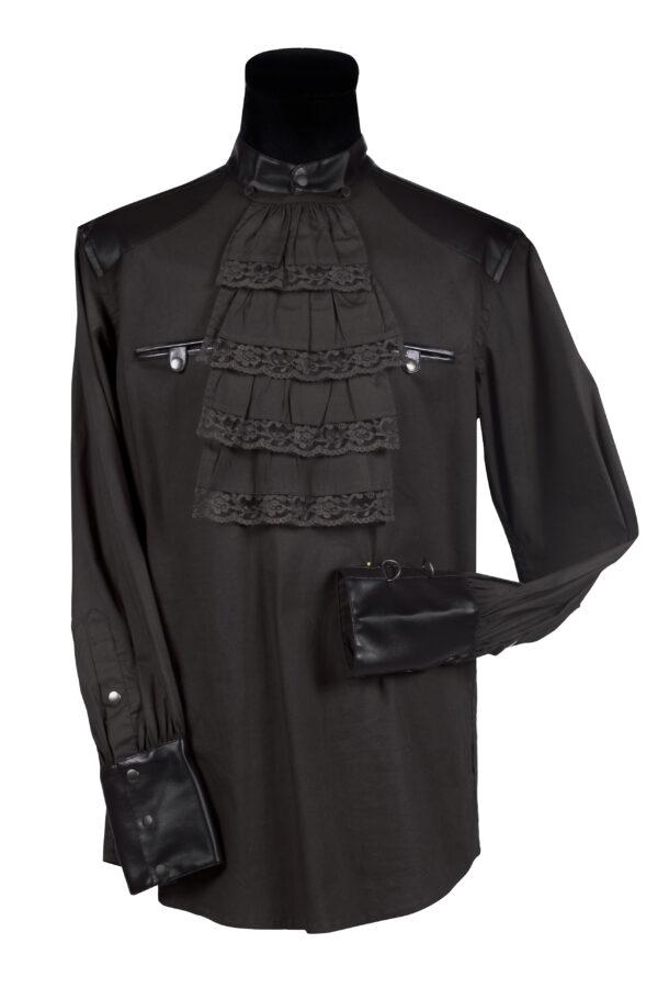 Damenbluse Steampunk schwarz Gr. XXL