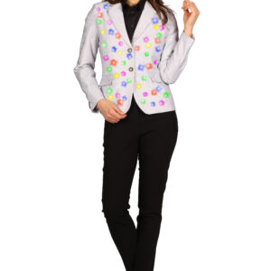 Damenjacket Anadelphina silber LED-multicolor Gr. M