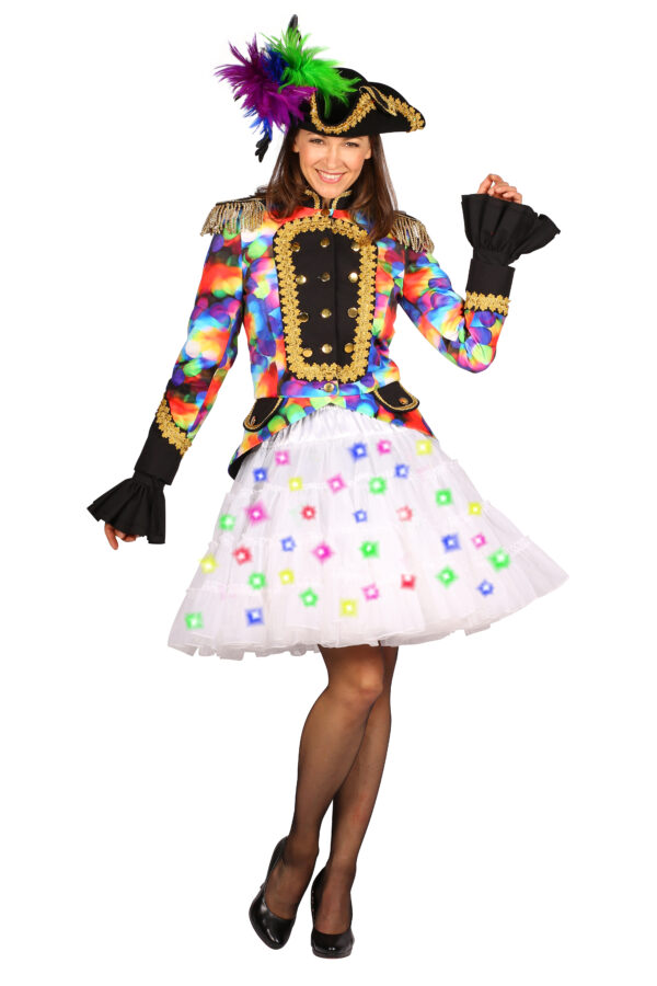 Petticoat weiß LED-Multicolor