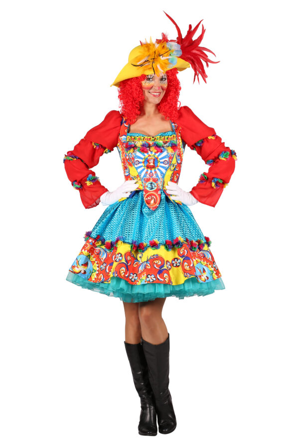 Damenkostüm Clown Trico Gr. XS