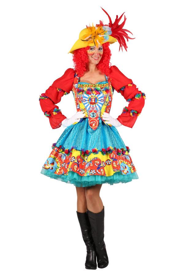 Damenkostüm Clown Trico Gr. XXL