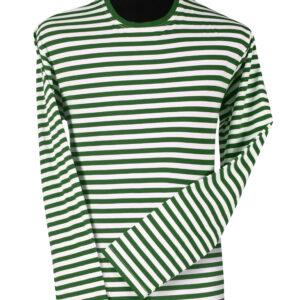 Ringelshirt langarm grün-weiß Gr. M