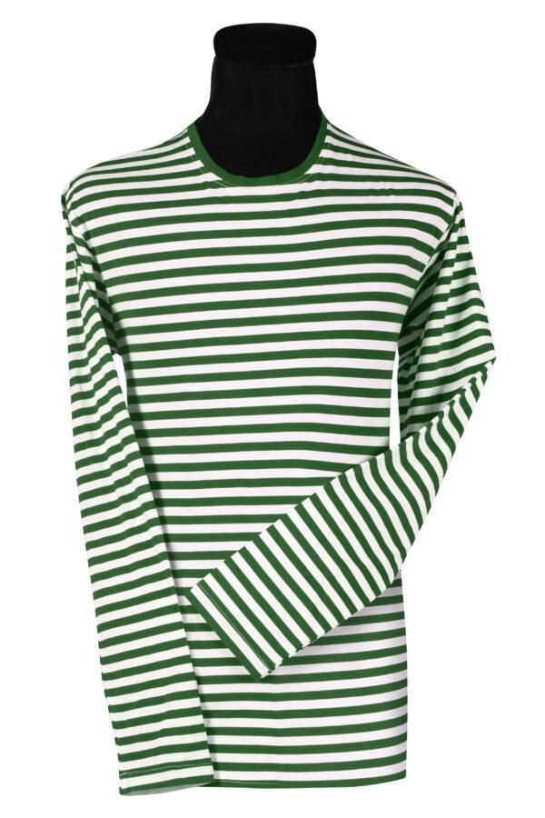 Ringelshirt langarm grün-weiß Gr.S