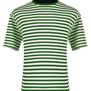 Ringelshirt kurzarm grün-weiß Gr. XS