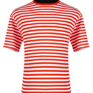 Ringelshirt kurzarm rot-weiß Gr. XL