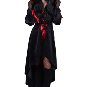 Halloween Kleid mit Kapuze Halina Teufel Gr. L