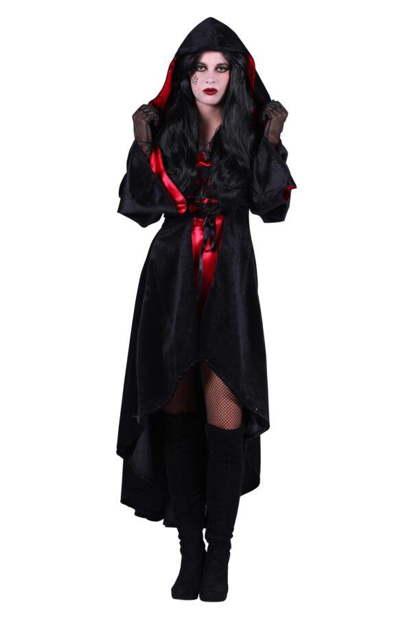 Halloween Kleid mit Kapuze Halina Teufel Gr. M