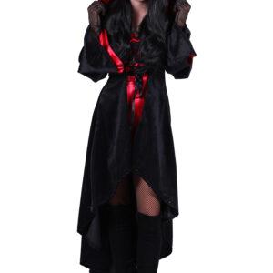 Halloween Kleid mit Kapuze Halina Teufel Gr. S