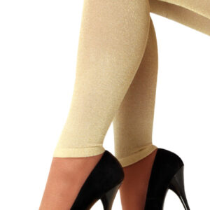 Leggings gold Lurex one size
