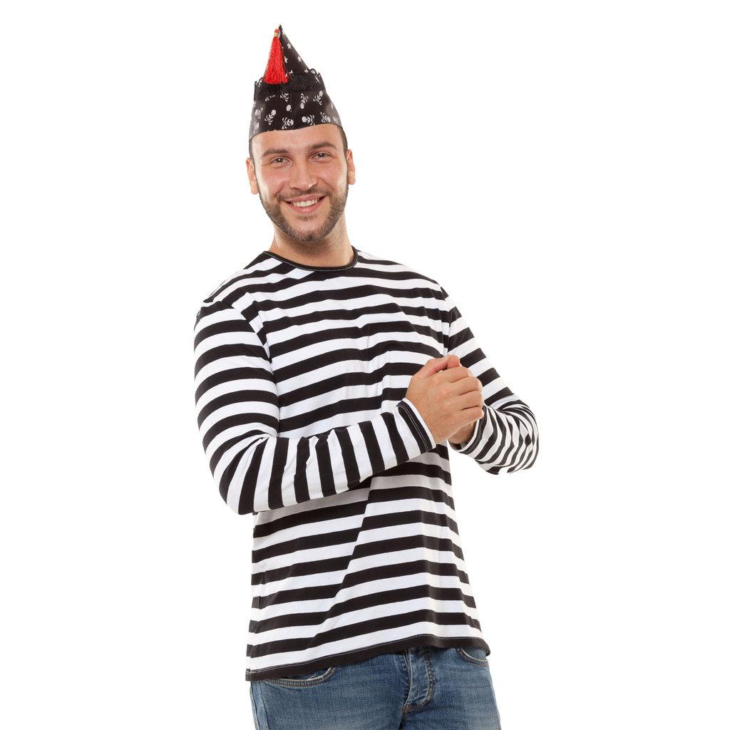 173d28a7c7525a Ringelshirt Herren schwarz-weiß Gr.S – Kölner Kostümkiste